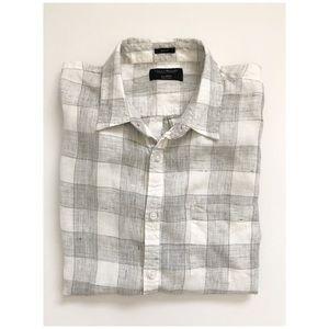 Lucky Brand Linen Button Down Shirt XL